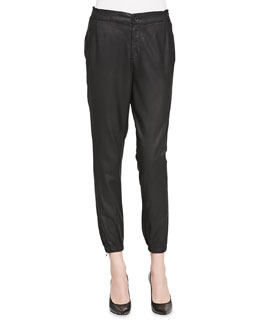 Kelsey Faux-Leather Track Pants