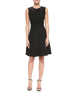 Elie Tahari Ophelia Sleeveless A-line Dress