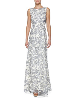 Tory Burch Skye Embroidered Gown