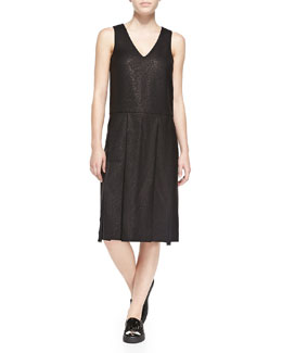 MARC by Marc Jacobs Sparkle Suiting V-Neck Dress
