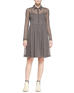 MARC by Marc Jacobs Sofia Sheer Knit Sweaterdress