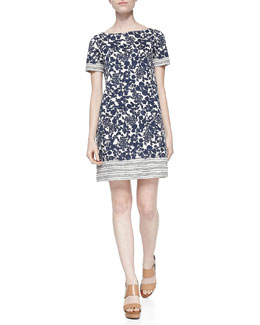 Tory Burch Elisabeth Printed Shift Dress