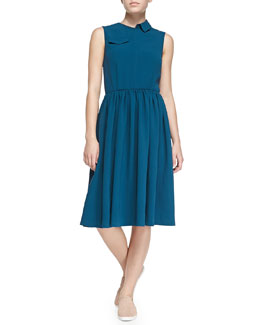MARC by Marc Jacobs Yumi Crepe Patch-Pocket Dress