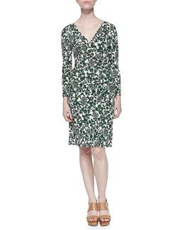 Tory Burch Michele Vine Jersey Draped Dress