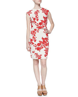 Tory Burch Lydie Flora-Print Layered Top Dress