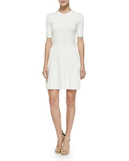 Theory Callalee Pleated-Skirt Knit Dress