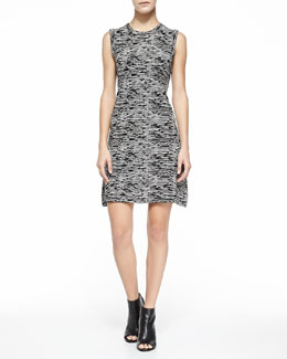Theory Vimlin Prosecco Sleeveless Space-Dyed Dress