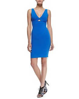 Alice + Olivia Yve Front-Cutout Fitted Dress