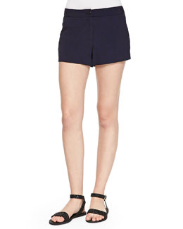 Thakoon Addition Button-Front Herringbone Shorts