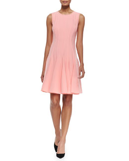 Elie Tahari Patti Sleeveless Godet-Skirt Dress