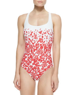 Tory Burch Issy Floral-Print One-Piece Swimsuit
