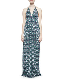 Tory Burch Laguna Printed Halter Maxi Dress