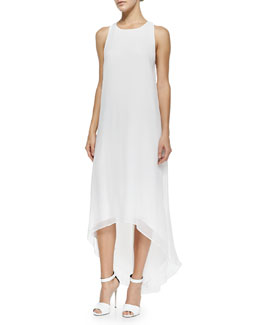 Alice + Olivia Twist-Back High-Low Dress