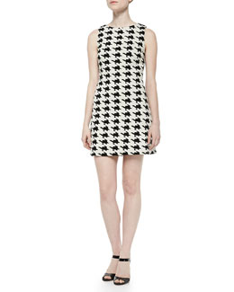 Alice + Olivia Eli Boat-Neck Sleeveless Dress