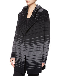Vince Striped Blanket Sweater Jacket