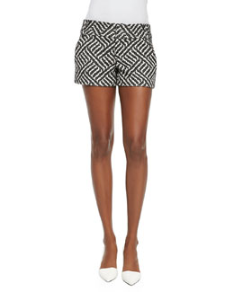 Cady Printed Structured Shorts