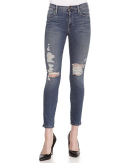 FRAME Le High Skinny Distressed Jeans, Seeley
