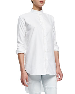 FRAME Le Tunic Stretch Woven Shirt