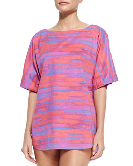 MARC by Marc Jacobs Jenny Oversize Striped Cotton Coverup