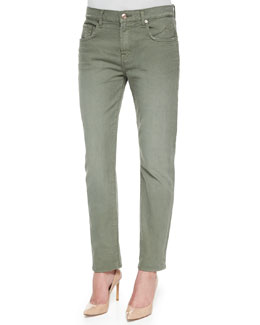 Relaxed Slim-Fit Denim Jeans, Fatigue