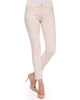 Rail Mid-Rise Cropped Skinny Jeans, Pink