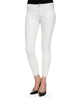 Marie Cropped Leather Skinny Pants
