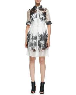 Milly Floral Mirage Printed Shirtdress