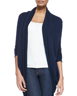 Alice + Olivia Draped Knit Open Cardigan