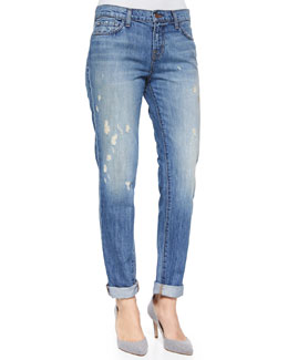 J Brand Jeans Jake Broken Distressed Boyfriend Jeans