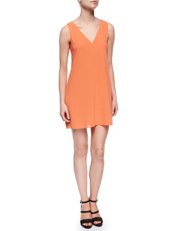Alice + Olivia Ry Sleeveless Crepe Cutout Dress