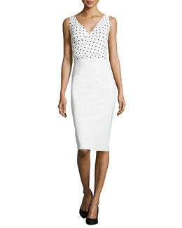 La Petite Robe di Chiara Boni Polka-Dot Print Dress, White/Black