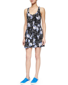 Thakoon Addition Floral-Print Front-Zip Dress