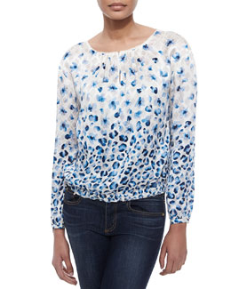 Tory Burch Honeycomb Silk Blouse