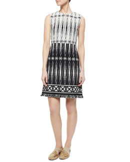 Tory Burch Savora Sleeveless Tweed Dress