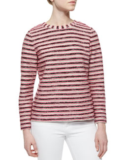 Tory Burch Long-Sleeve Terry Sweatshirt