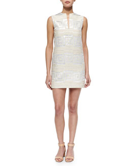 Tory Burch Textured Jacquard Shift Dress