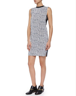 Derek Lam 10 Crosby Sleeveless Crewneck Printed Shift dress