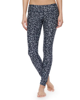 Tory Burch Glow-Dot Pattern Swim Leggings