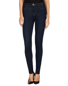 J Brand Jeans Maria High-Rise Super-Skinny Jeans, After Dark