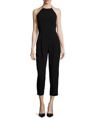 Jagger Halter-Neck Jumpsuit, Black