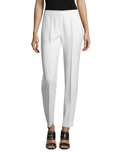 Slim-Leg Suiting Trousers, Ivory