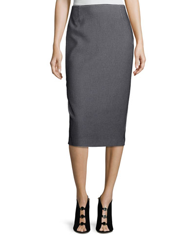 Modular Jacquard Pencil Skirt