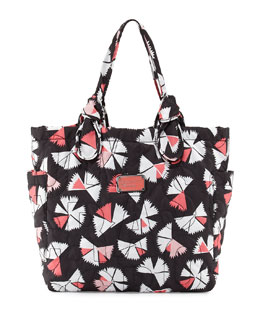 MARC by Marc Jacobs Pretty Nylon Pinwheel Medium Tate Tote Bag, Black Multi