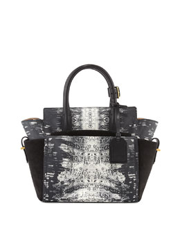 Reed Krakoff Atlantique Mini Snake-Print Tote Bag, Black/White