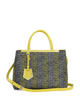 Fendi 2Jours Printed Petit Tote Bag, Yellow