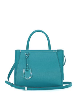 Fendi 2Jours Petit Shopping Tote Bag, Aqua