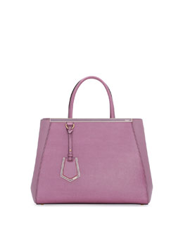Fendi 2Jours Saffiano Shopping Tote Bag, Lilac