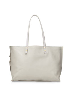 Chloe Dilan Large Leather Tote Bag, Gray