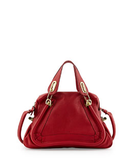 Chloe Paraty Medium Satchel Bag, Red