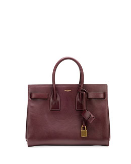 Saint Laurent Sac de Jour Small Carryall Bag, Bordeaux
